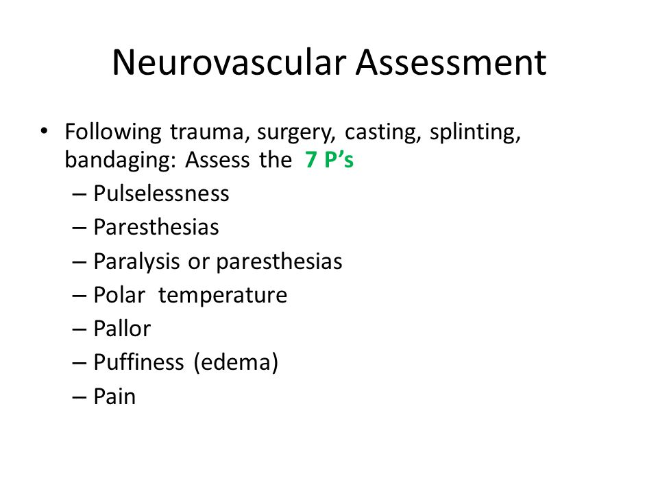 Neurovascular Assessment