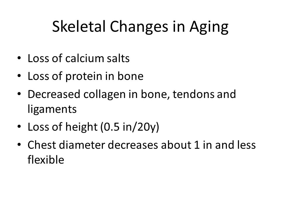 Skeletal Changes in Aging
