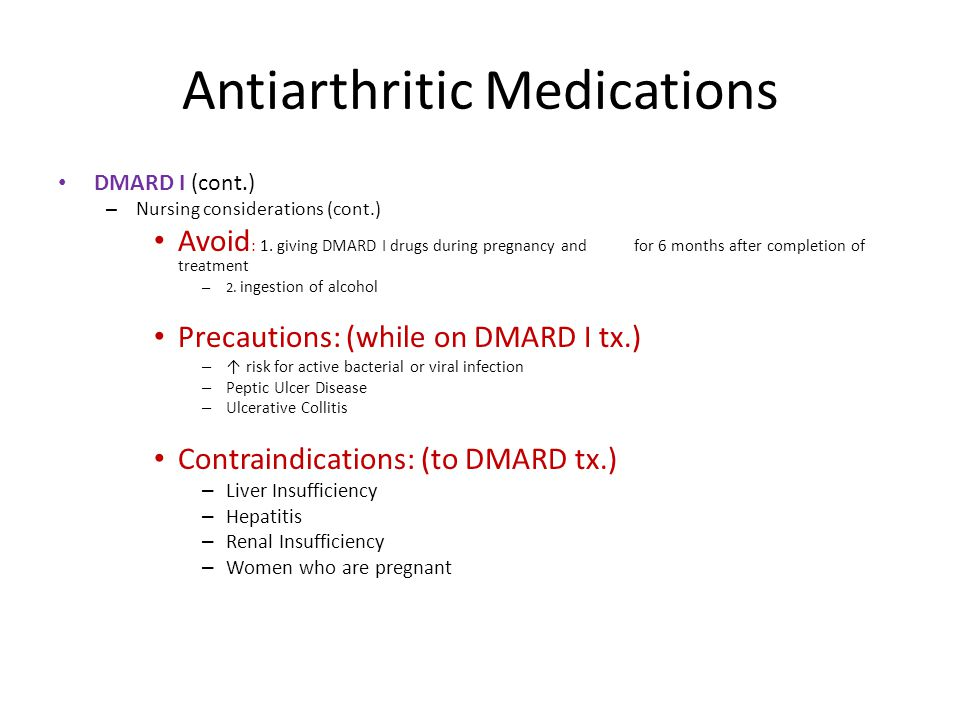 Antiarthritic Medications