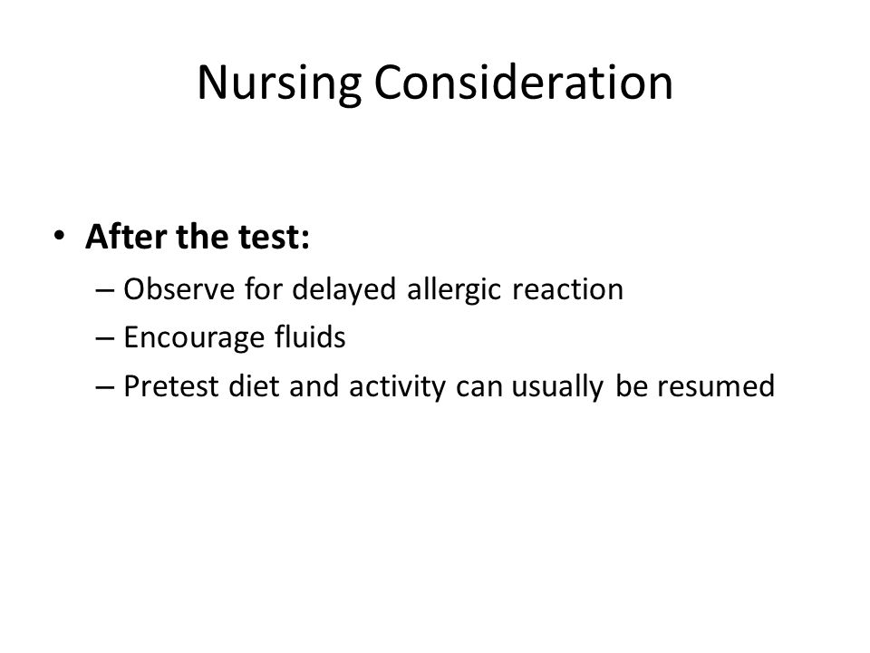 Nursing Consideration