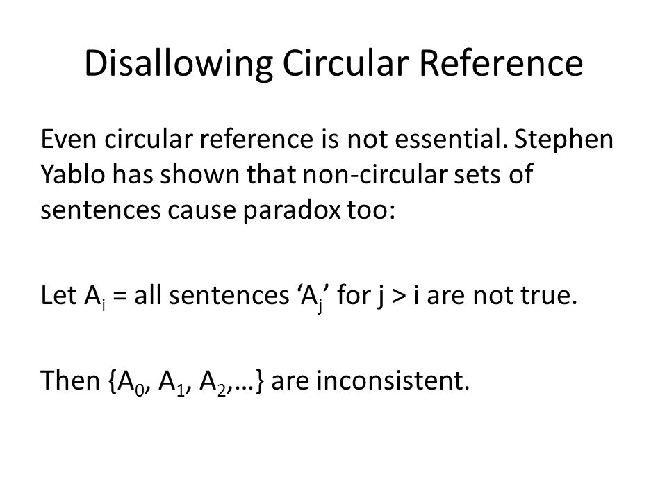 Disallowing Circular Reference