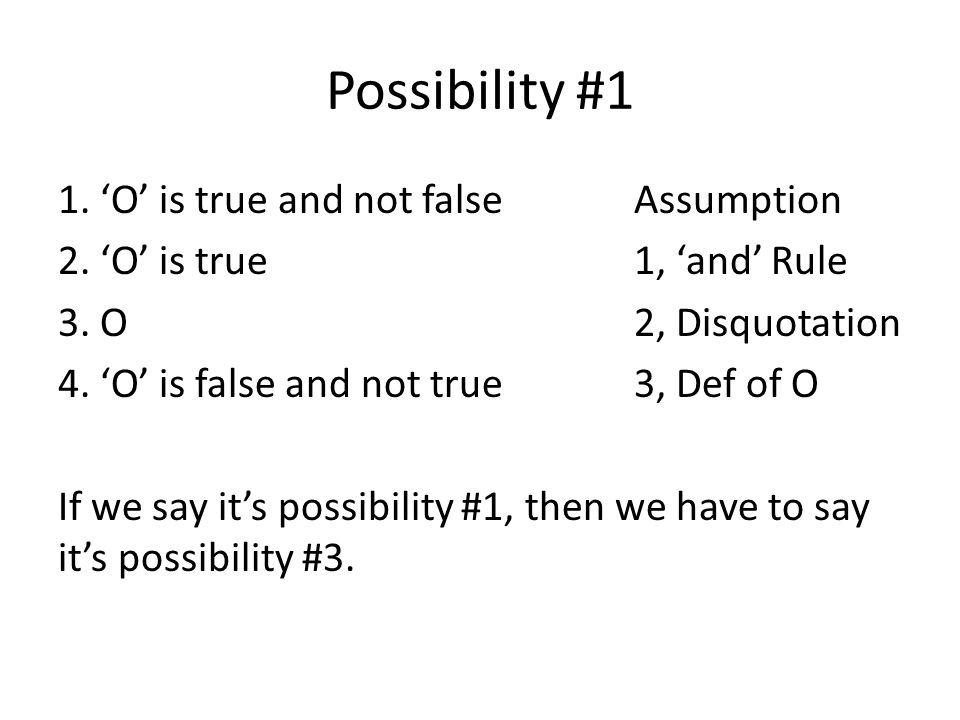 Possibility #1