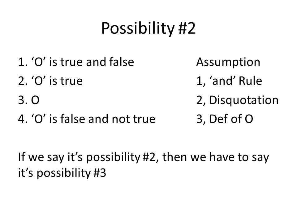 Possibility #2