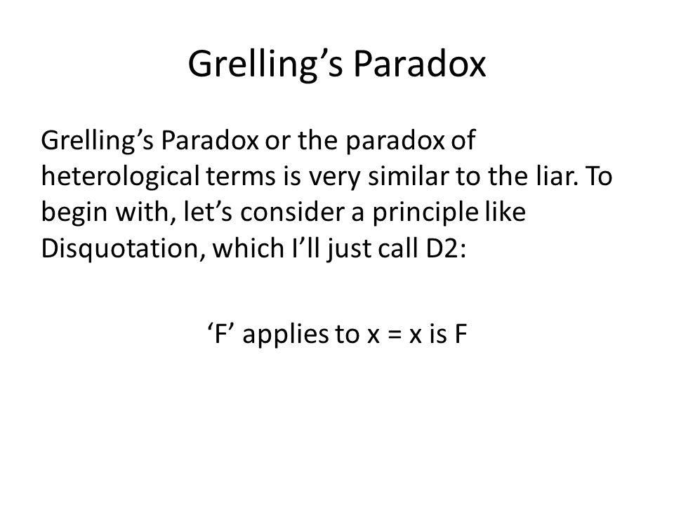 Grelling's Paradox