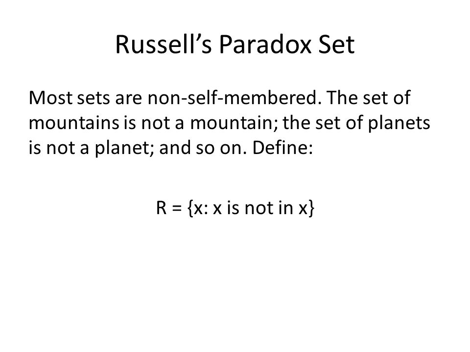 Russell's Paradox Set