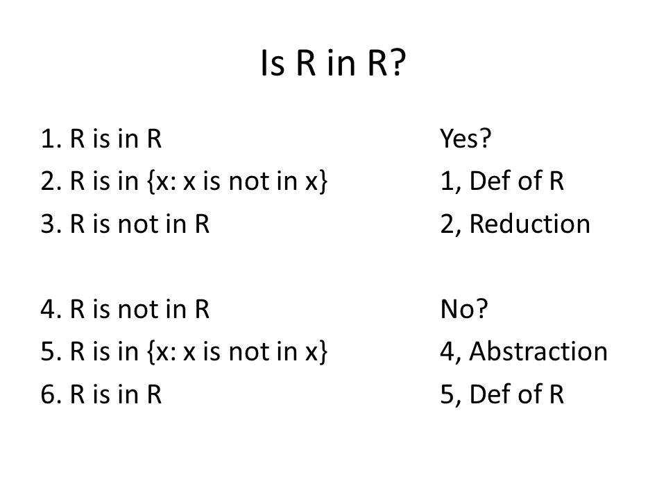 Is R in R