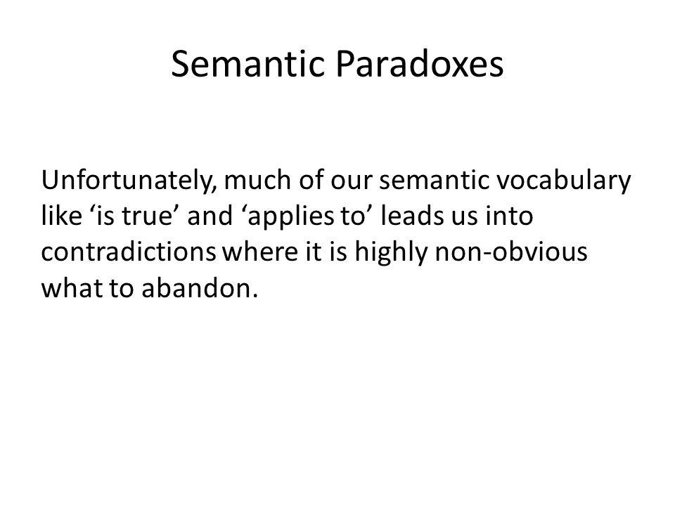 Semantic Paradoxes