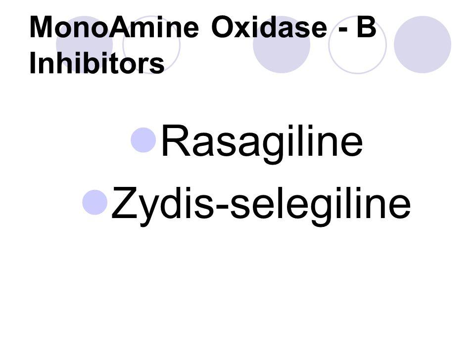 MonoAmine Oxidase - B Inhibitors