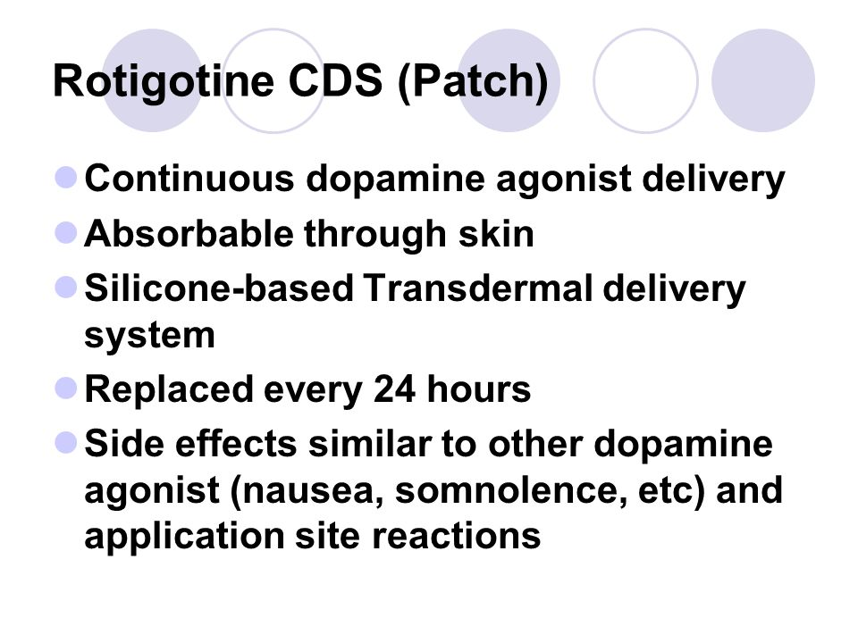 Rotigotine CDS (Patch)