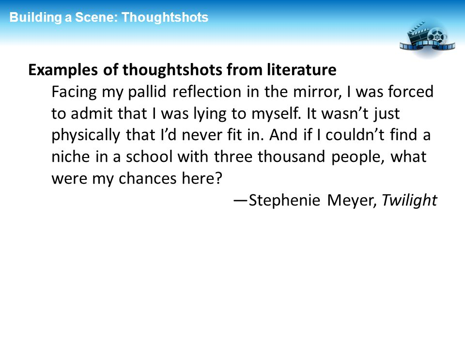 Examples of thoughtshots from literature