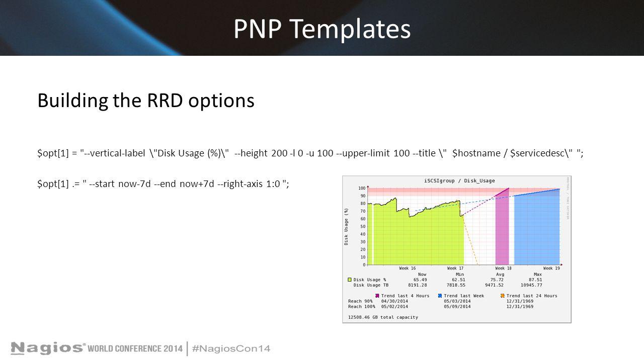 PNP Templates Building the RRD options