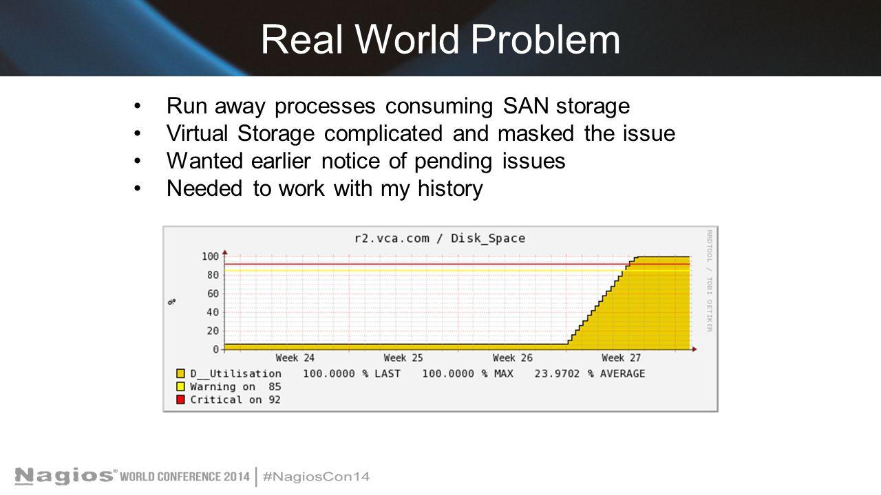Real World Problem Run away processes consuming SAN storage