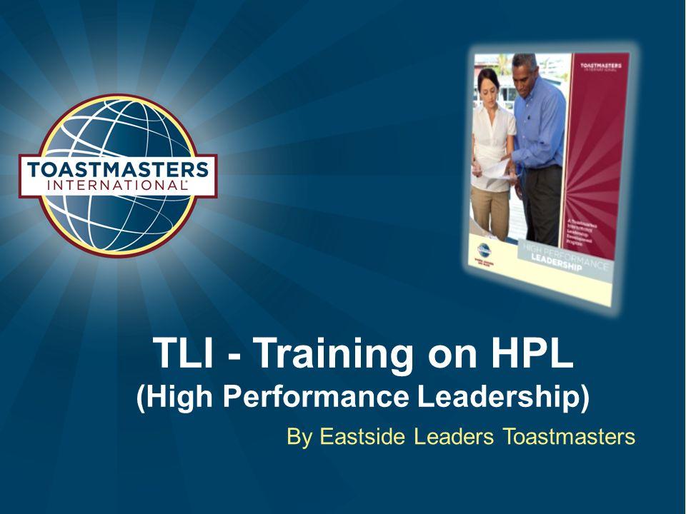 TLI - Training on HPL (High Performance Leadership)