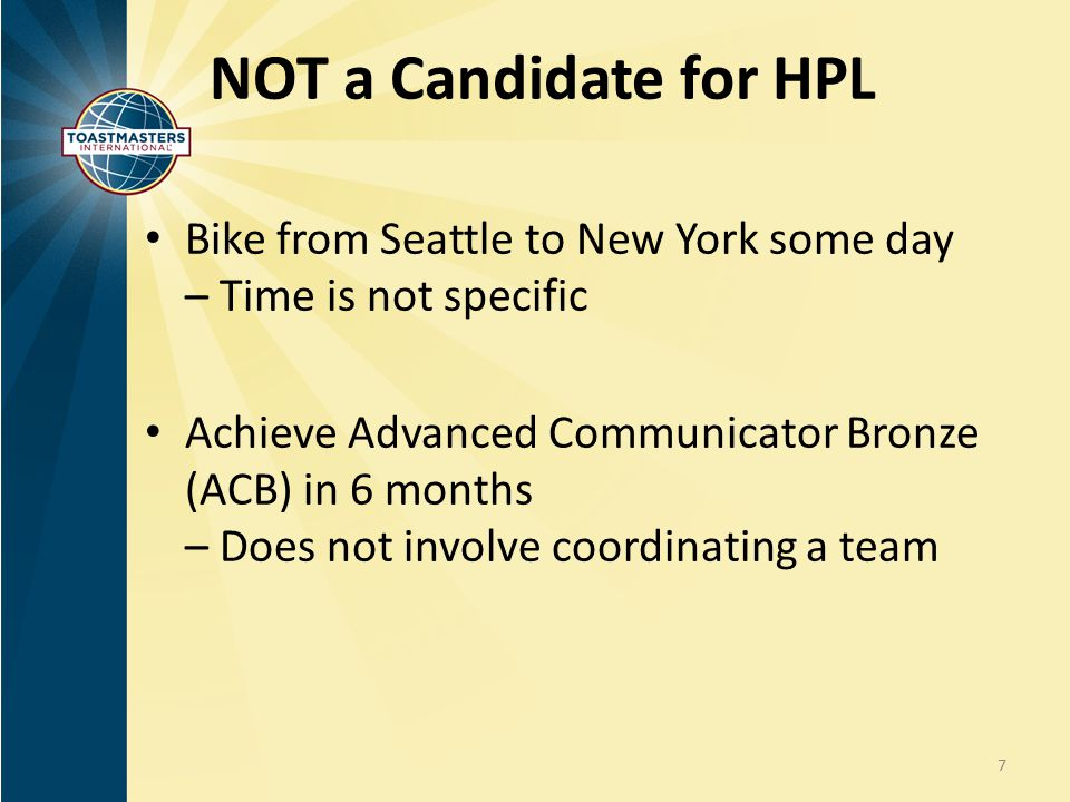 NOT a Candidate for HPL Bike from Seattle to New York some day – Time is not specific.