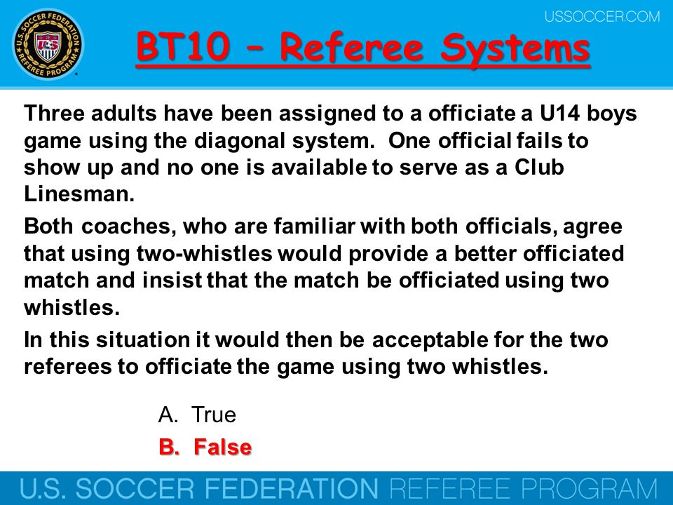 BT10 – Referee Systems