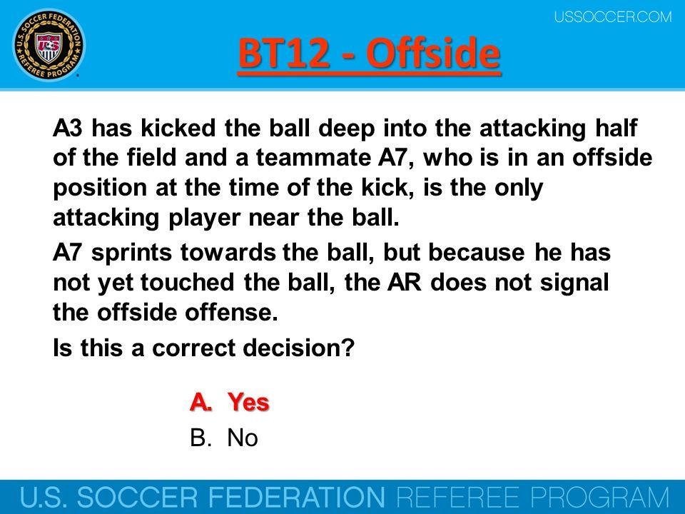 BT12 - Offside