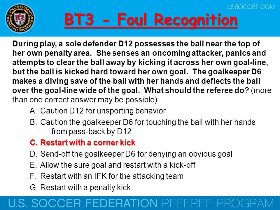 BT3 - Foul Recognition