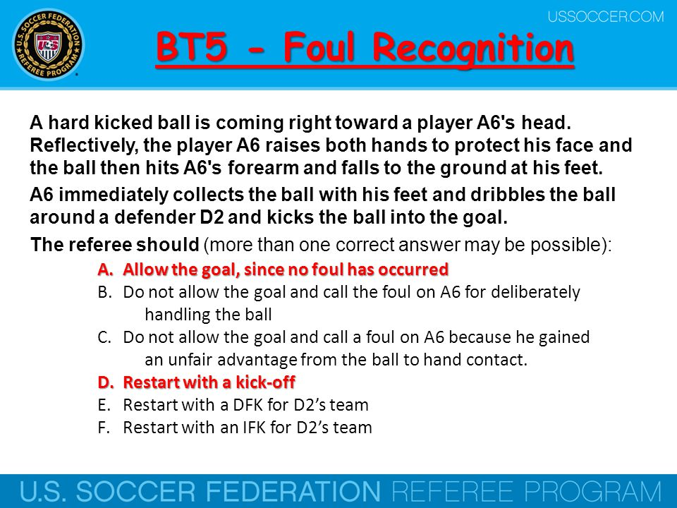 BT5 - Foul Recognition