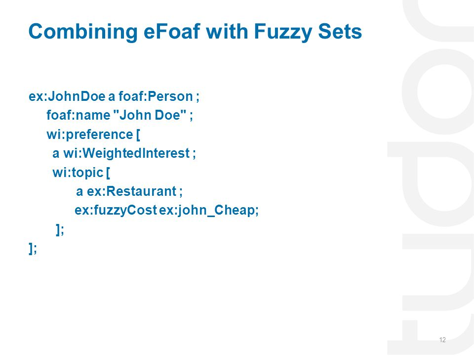 Combining eFoaf with Fuzzy Sets
