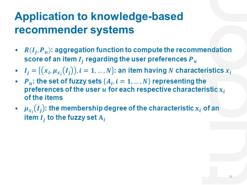 Application to knowledge-based recommender systems
