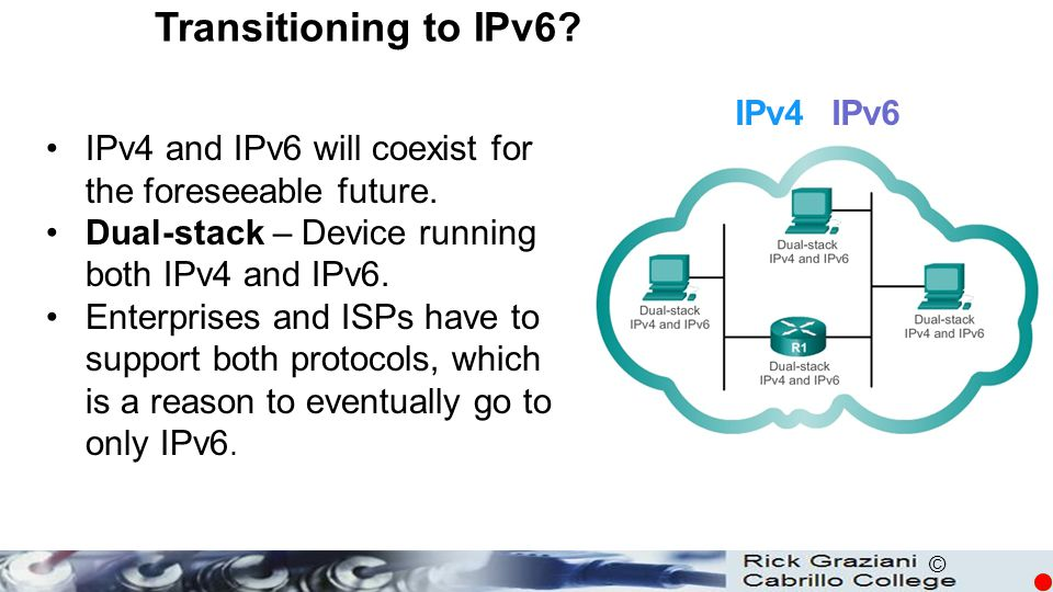 Transitioning to IPv6 IPv4 IPv6