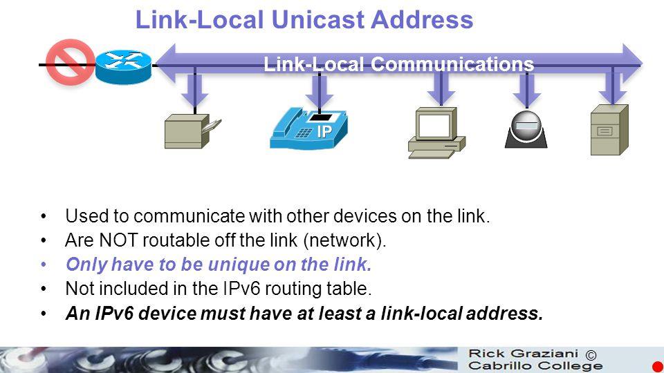 Link-Local Unicast Address Link-Local Communications