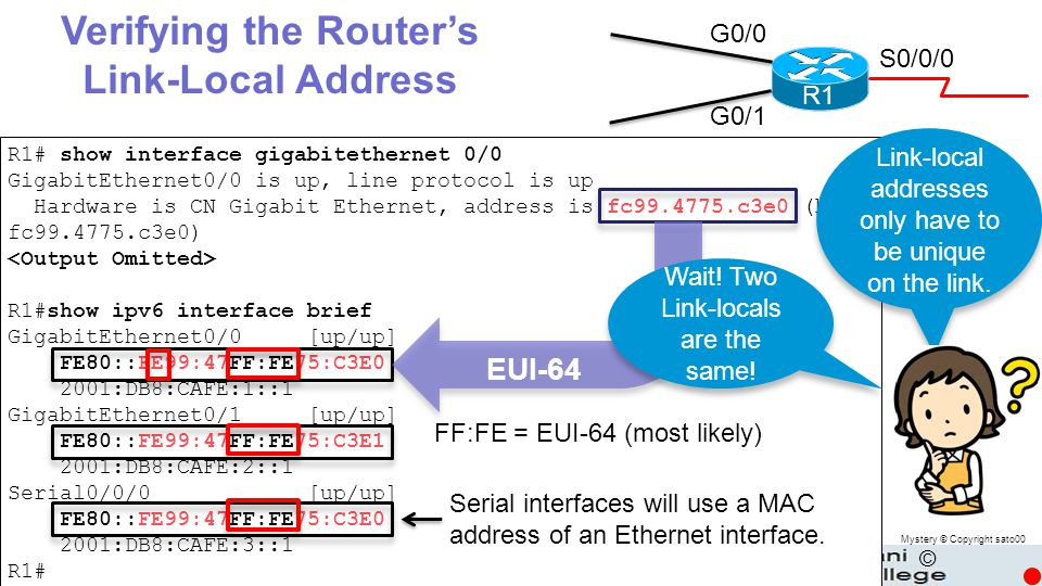 Verifying the Router's Link-Local Address