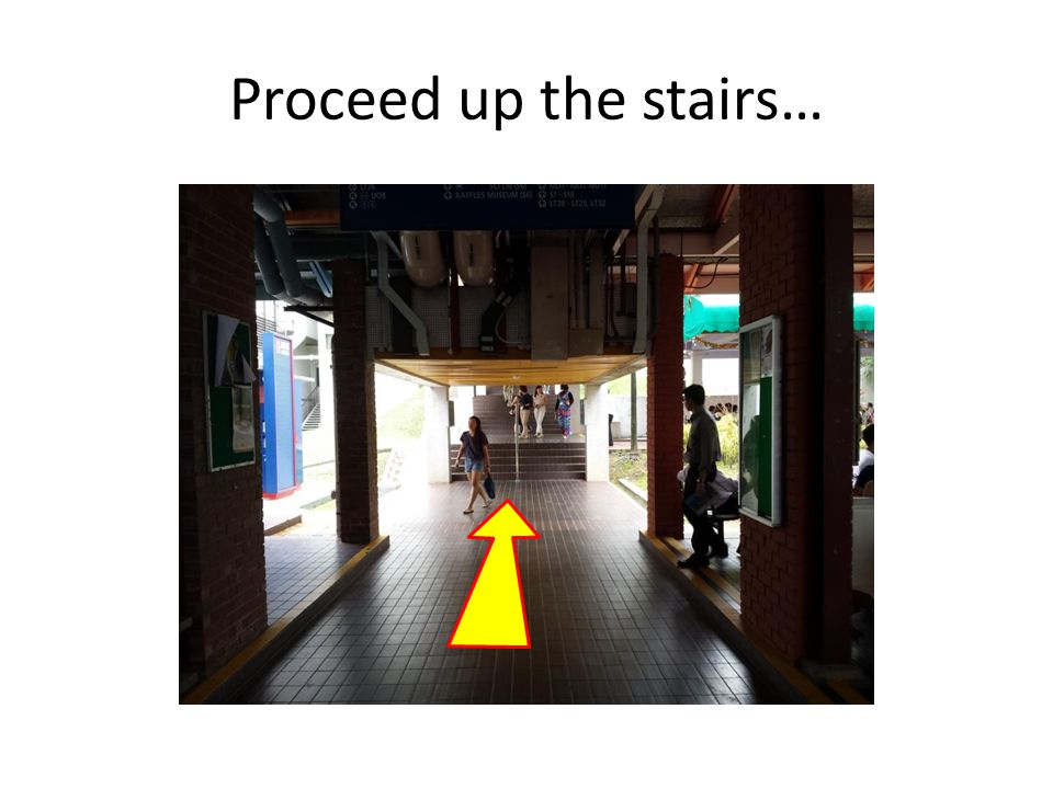 Proceed up the stairs…