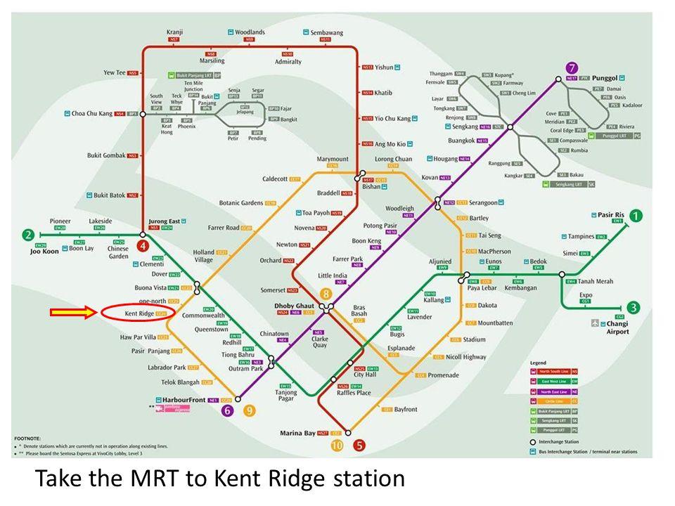 Take the MRT to Kent Ridge station