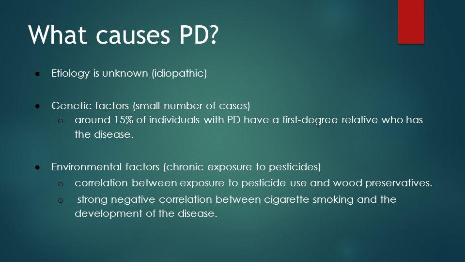 Symptoms of PD Motor Symptoms Non-motor Symptoms Resting Tremor