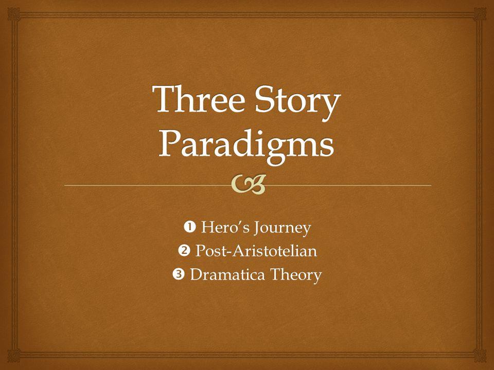  Hero's Journey  Post-Aristotelian  Dramatica Theory