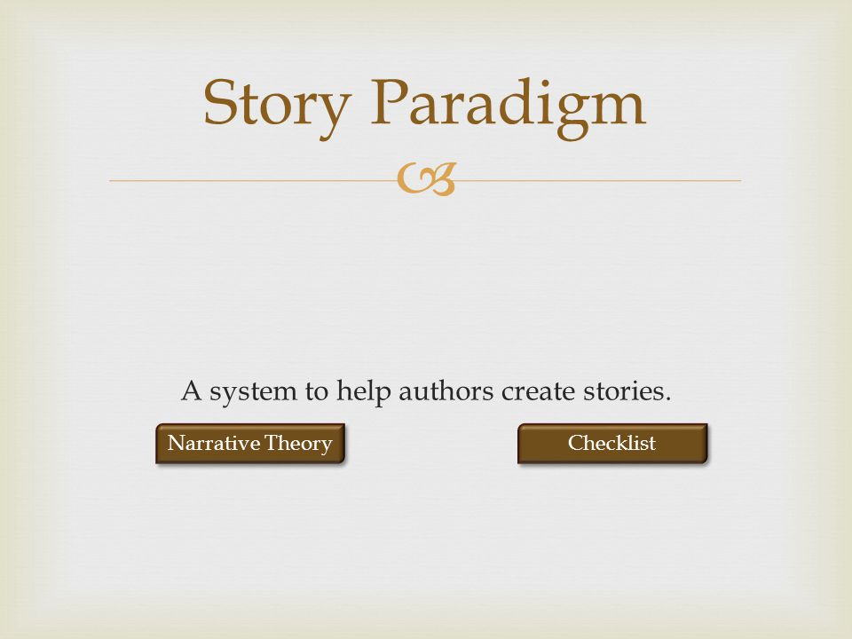 A system to help authors create stories.