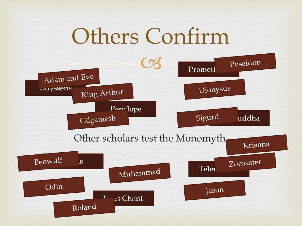 Other scholars test the Monomyth.