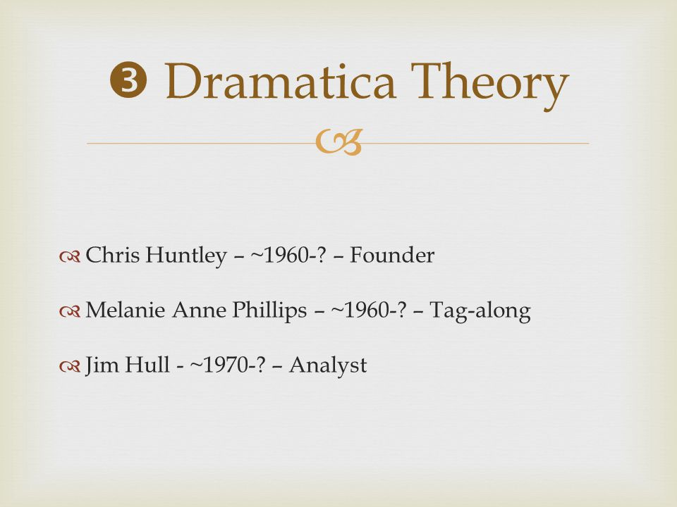  Dramatica Theory Chris Huntley – ~1960- – Founder