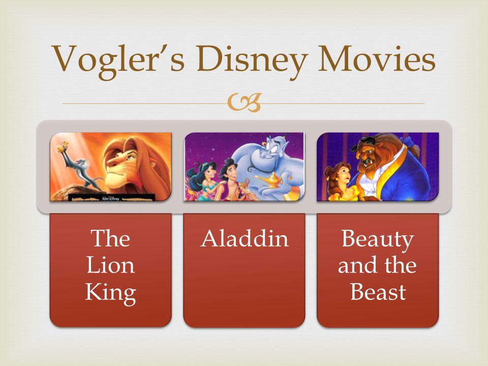 Vogler's Disney Movies