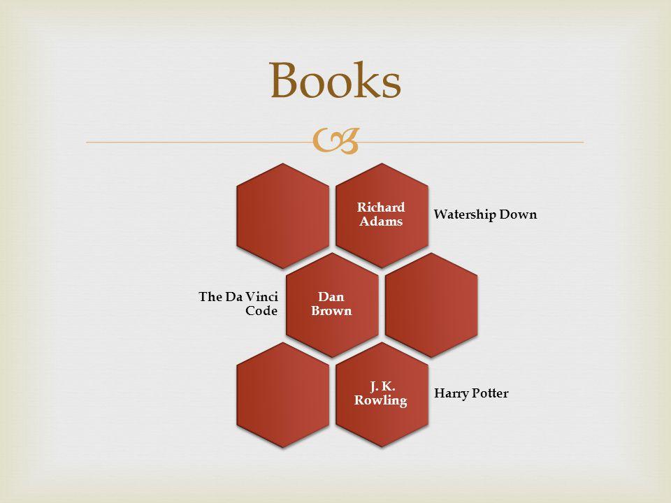 Books Richard Adams Watership Down Dan Brown The Da Vinci Code