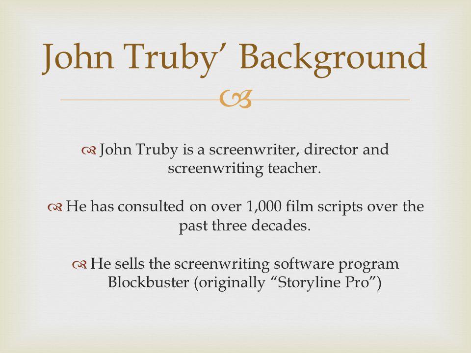John Truby' Background