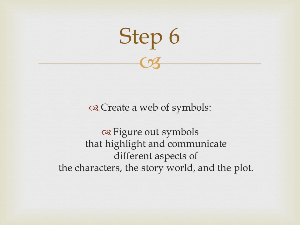 Create a web of symbols: