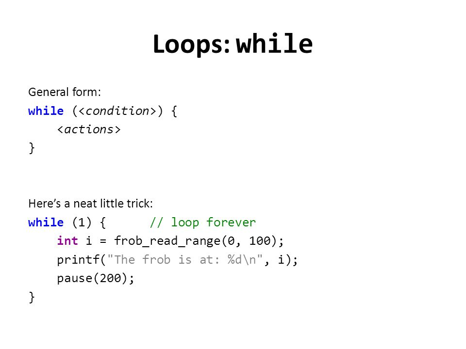 Loops: while