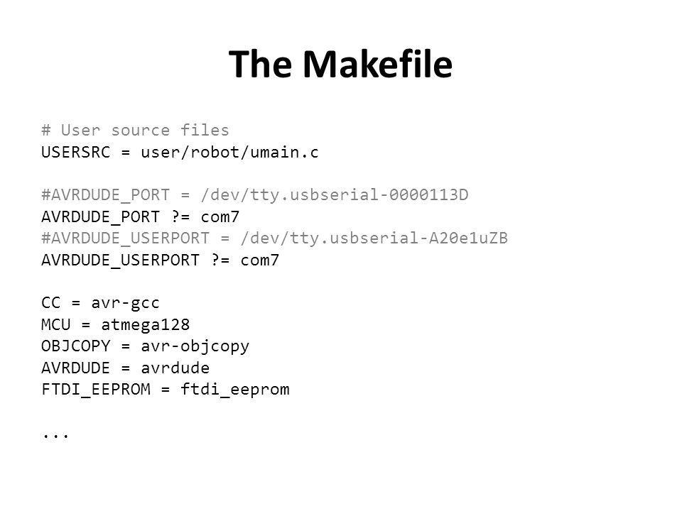 The Makefile