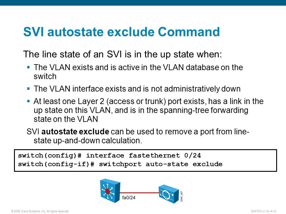 SVI autostate exclude Command