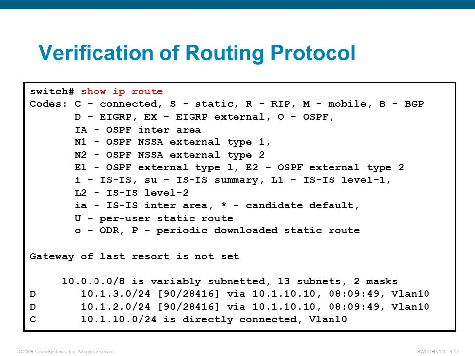 Verification of Routing Protocol