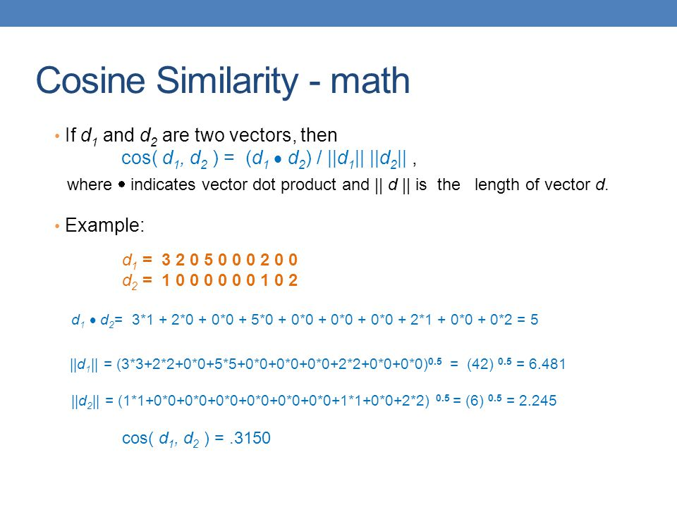 Cosine Similarity - math