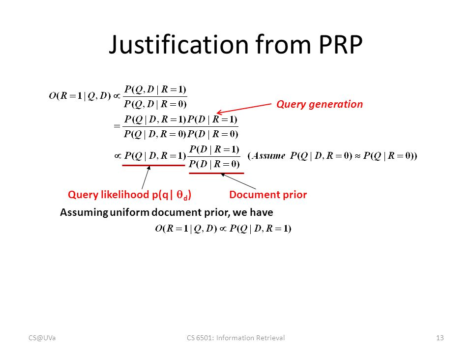 Justification from PRP