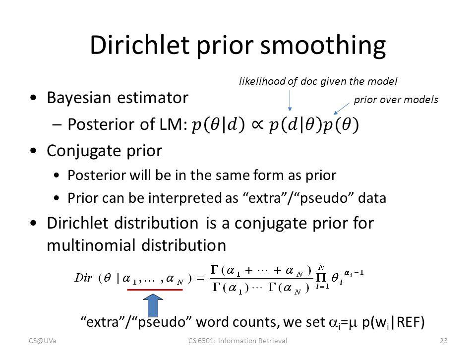 Dirichlet prior smoothing