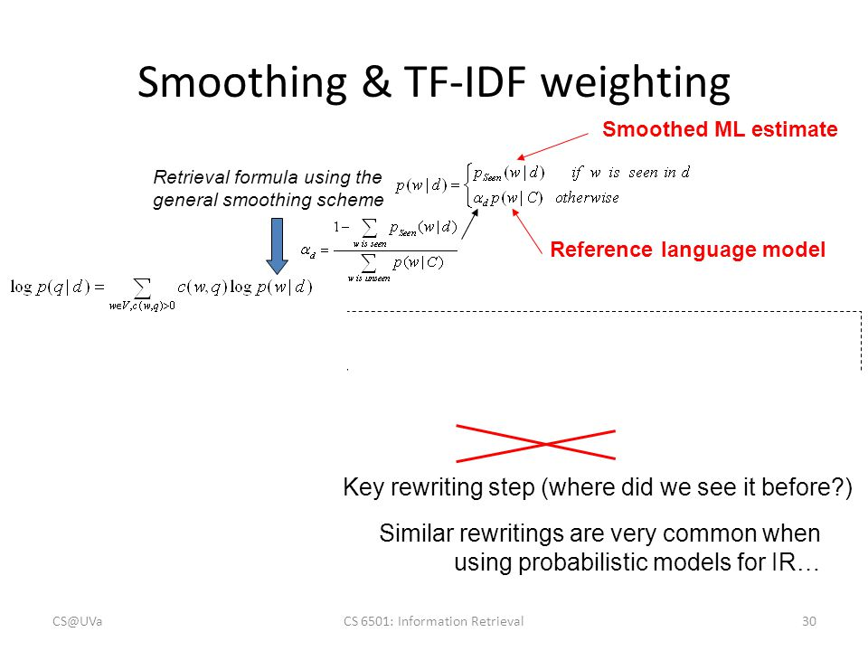 Smoothing & TF-IDF weighting