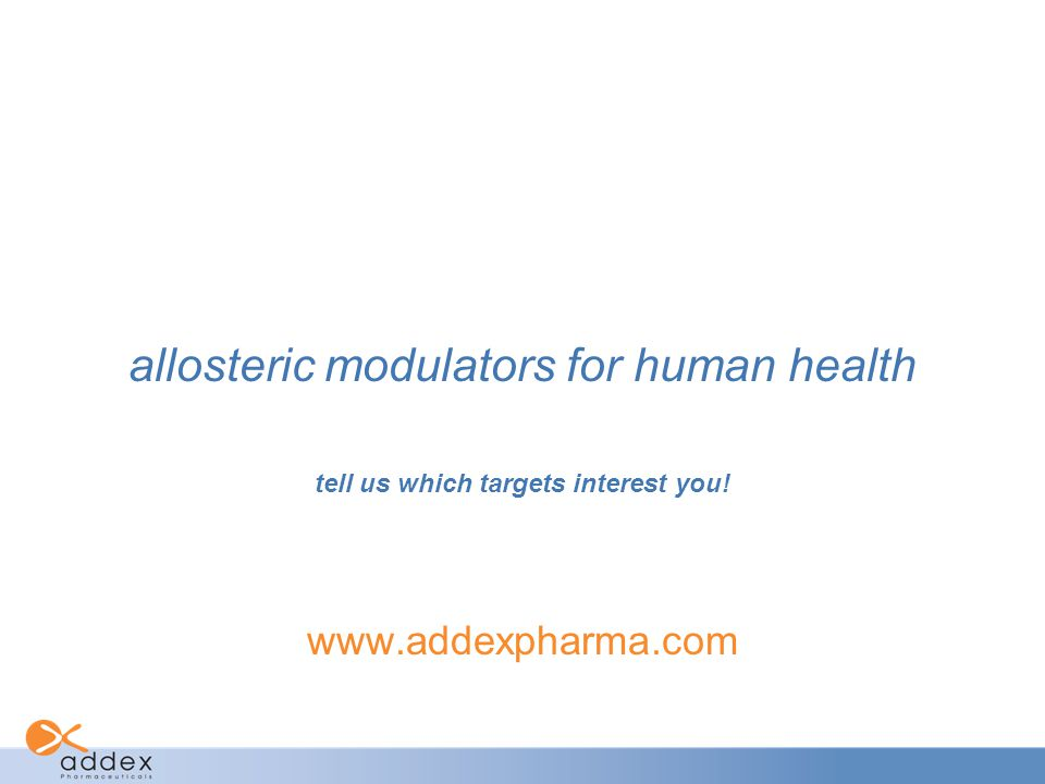 allosteric modulators for human health
