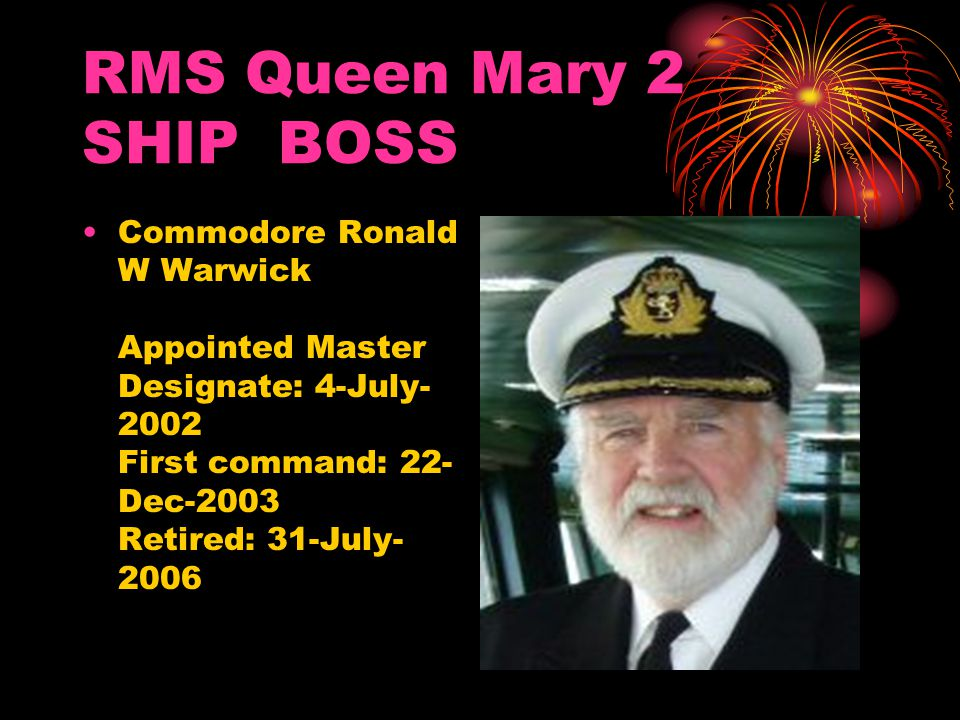 RMS Queen Mary 2 SHIP BOSS