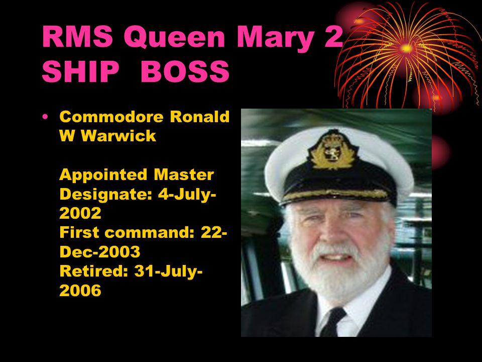 RMS Queen Mary 2 SHIP BOSS