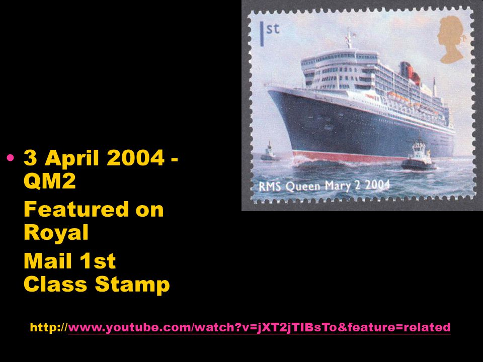 3 April 2004 - QM2 Featured on Royal Mail 1st Class Stamp